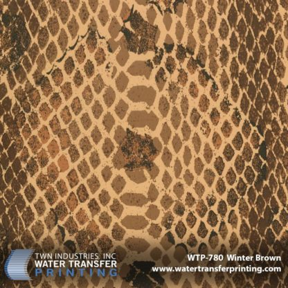 WTP-780 Snakeskin Illusion-Winter Brown Hydrographic Film