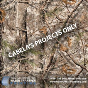 WTP-785 Cabela's Mini Zonz Woodland Hydrographic Film