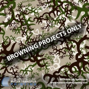 WTP-808 Browning Tan Buckthorn Hydrographic Film