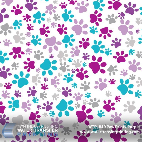 WTP-840 Paw Prints Hydrographic Film