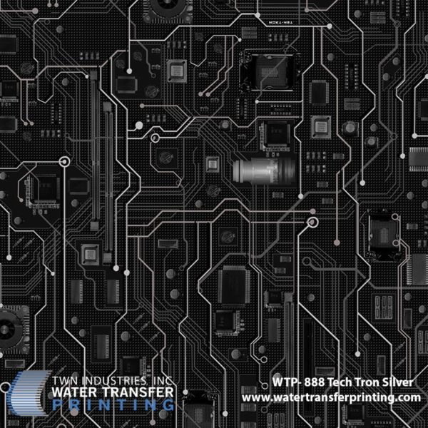 WTP-888 Tech-Tron Silver Hydrographic Film