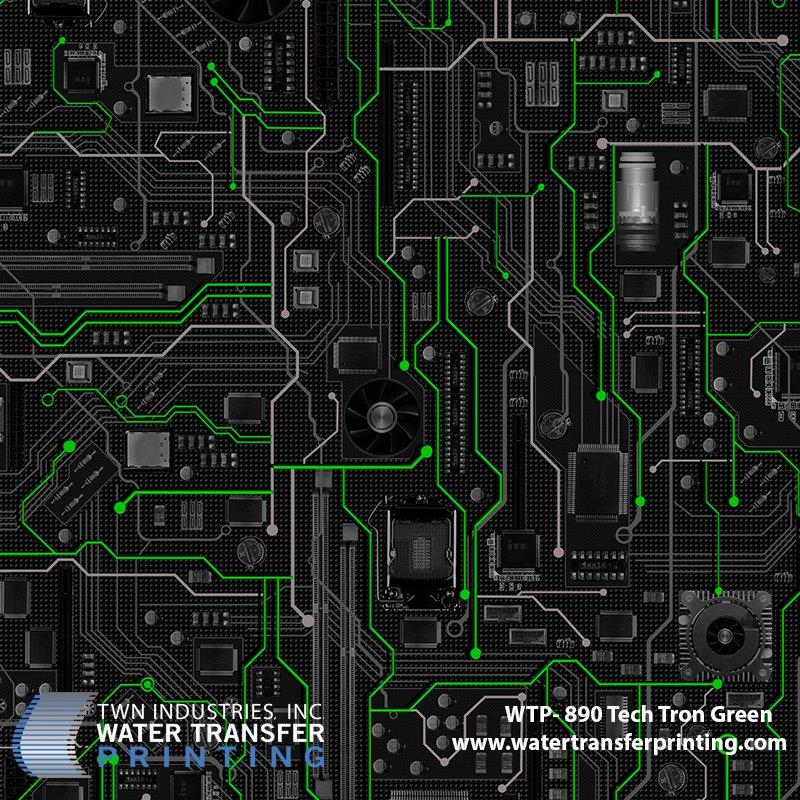 WTP-890 Tech-Tron Green Hydrographic Film