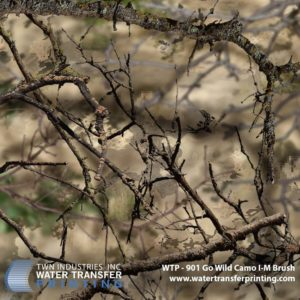 WTP-901 Go Wild Camo I-M Brush Hydrographic Film