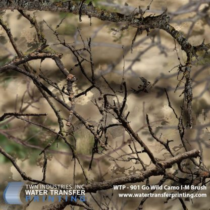 WTP-901 Go Wild Camo I-M Brush Hydrographic Film
