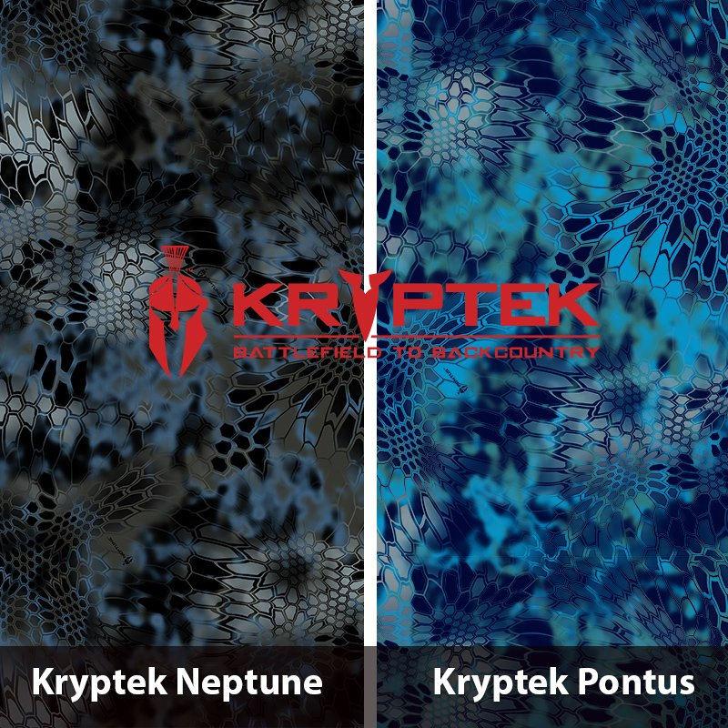 Kryptek Neptune and Pontus Hydrographic Film