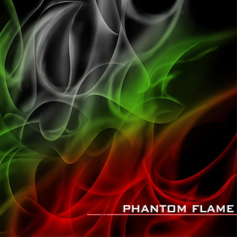 Phantom Flame Hydrographic Film