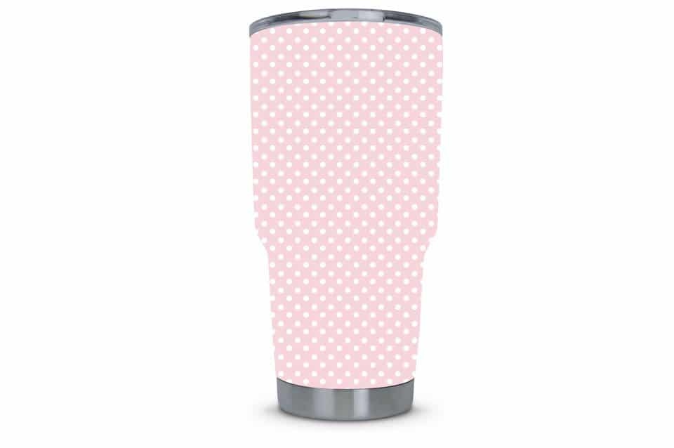 Women's Tumbler Dipped in Pink Polka Dot
