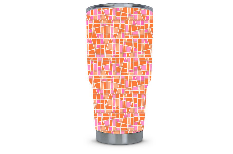 Women's Tumbler Dipped in Mosaic Hydrographic Film