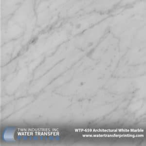 WTP-659 Architectural White Marble Hydrographic Film
