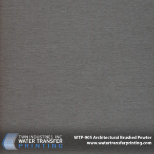 WTP-905 Architectural Brushed Pewter Hydrographic Film