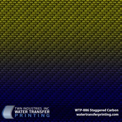 Carbon Fiber Water Transfer Printing Film with Blue Gradient Base