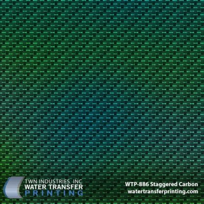Carbon Fiber Hydrographic Film with Green Gradient Base