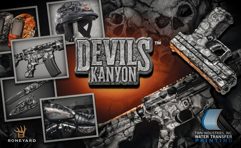 Devil's Kanyon Skull Hydrographic Film