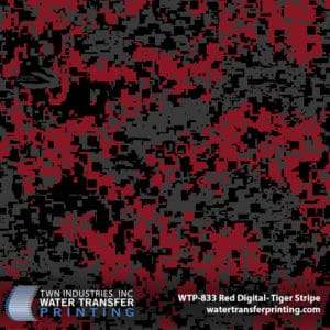 Red Digital Hydrographic Film by Tiger Stripe Products