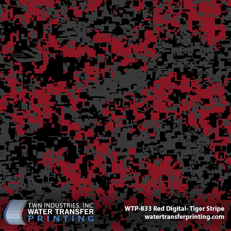 Red Digital Hydrographic Film by Tiger Stripe - WTP-833 | TWN