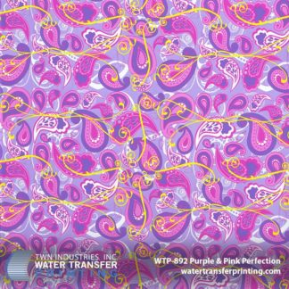WTP-892 Purple Pink Paisley Hydrographic Film