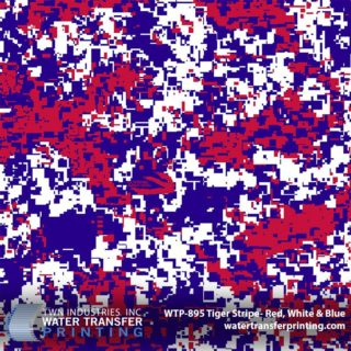 Red, White & Blue Hydrographic Film