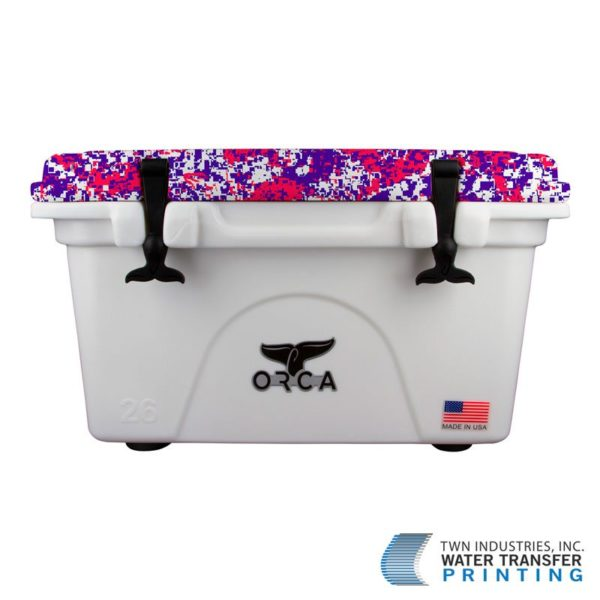 Orca Coolers Dipped in Red, White & Blue Digital Hydrographic Film