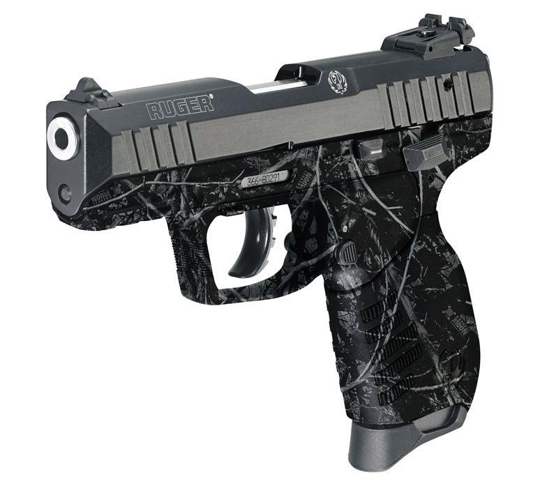 Ruger Pistol Dipped in Harvest Moon Hydrographic Film