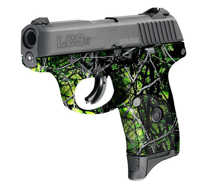 Ruger Pistol Dipped in Toxic Reduced Hydrographic Film