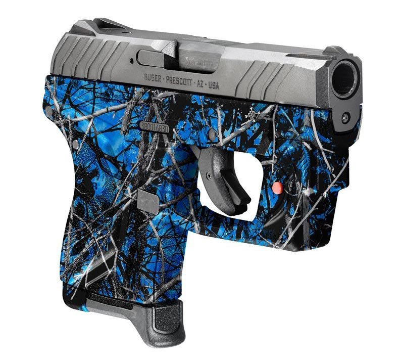 Ruger Pistol Dipped in Undertow Reduced Hydrographic Film
