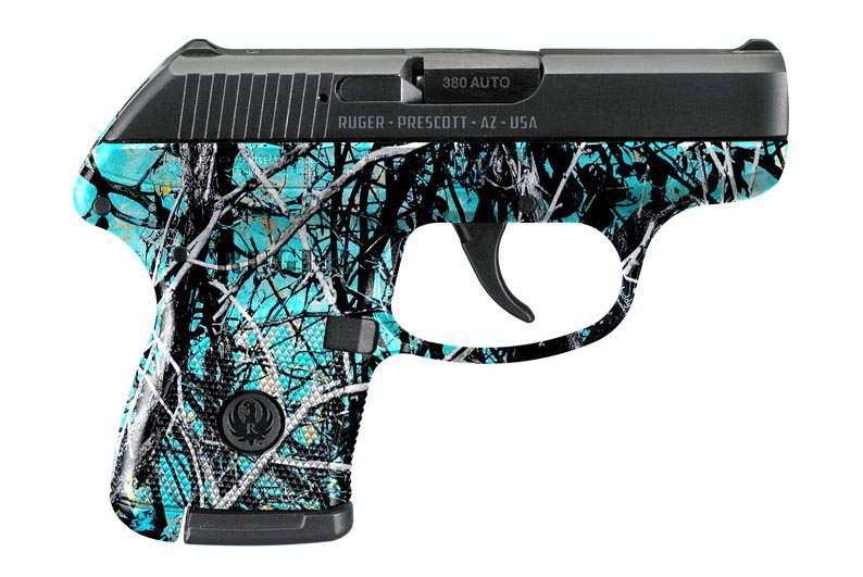 Ruger Pistol Dipped in Muddy Girl Serenity Hydrographic Film