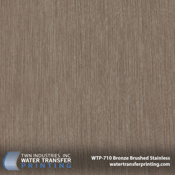Bronze Brushed Stainless Hydro Dipping Film