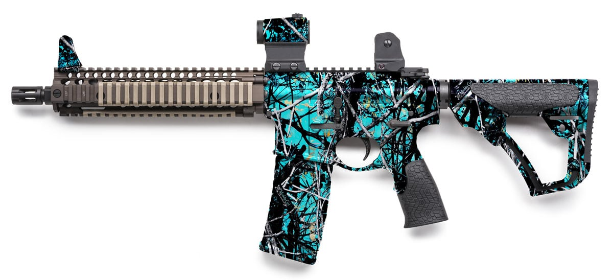 Rifle Dipped in Muddy Girl Serenity Water Transfer Printing Film
