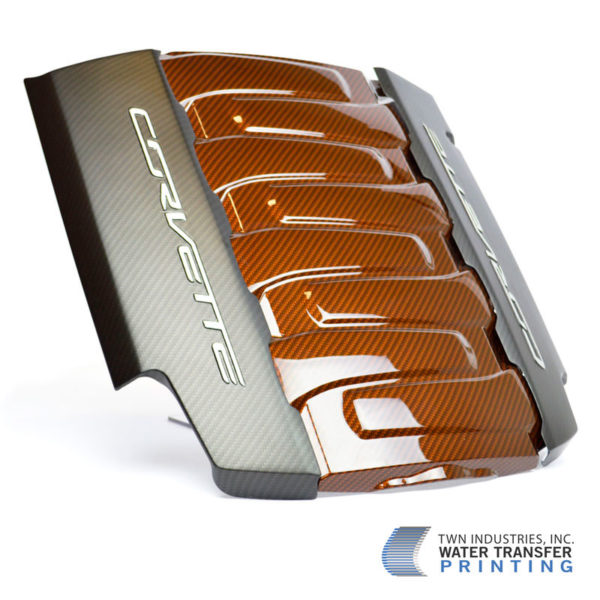 Corvette Engine Cover in Sport Carbon Fiber Hydro Dipping Film