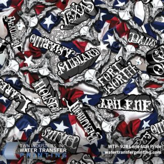 Texas Hydrographic Film: WTP-928 Lone Star Pride