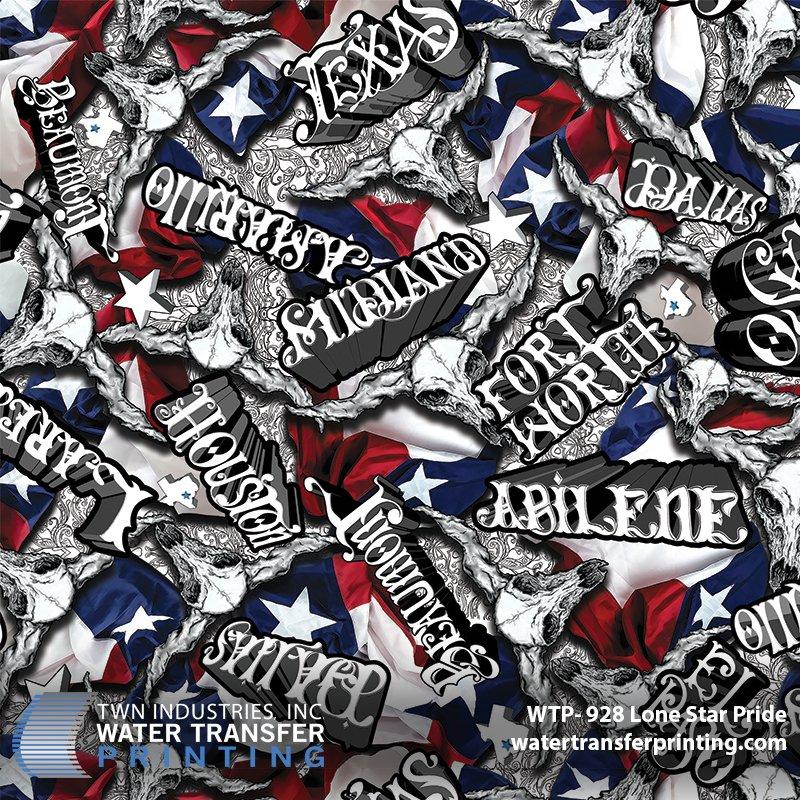 Texas Hydrographic Film: WTP-928 Lone Star Pride