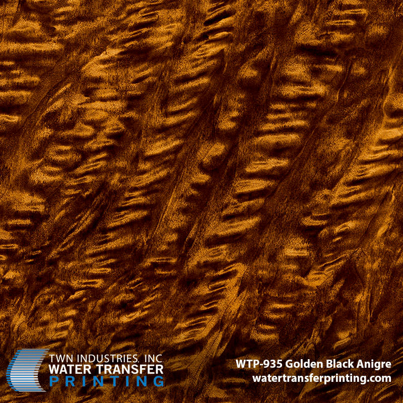 WTP-935 Golden Black Anigre hydro dipping film