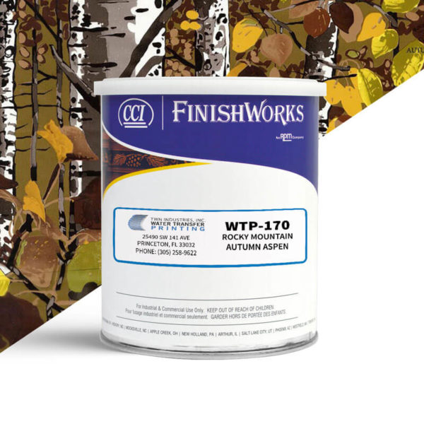 Hydrographic Paint: WTP-170 Rocky Mountain Camo Autumn Aspen | CCI Paint