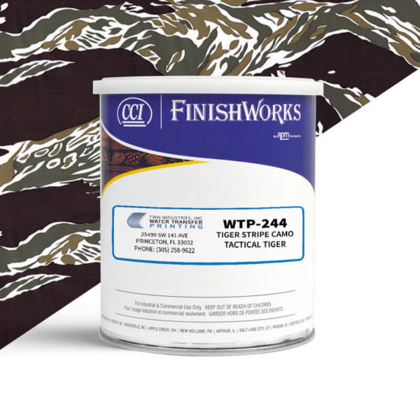 Hydrographic Paint: WTP-244 Tiger Stripe Tactical Tiger | CCI Paint