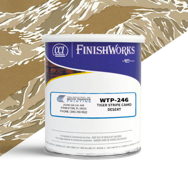 Hydrographic Paint: WTP-246 Tiger Stripe Desert | CCI Paint