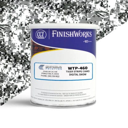 Hydrographic Paint: WTP-460 Tiger Stripe Digital Snow | CCI Paint