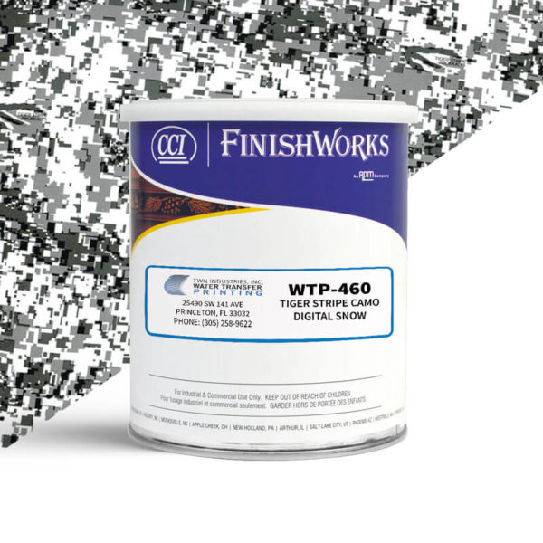Hydrographic Paint: WTP-460 Tiger Stripe Digital Snow | CCI Paint
