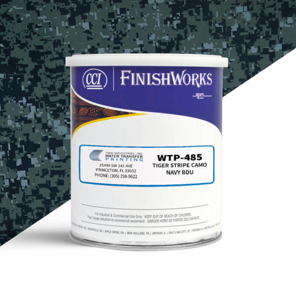 Hydrographic Paint: WTP-485 Tiger Stripe Navy BDU | CCI Paint