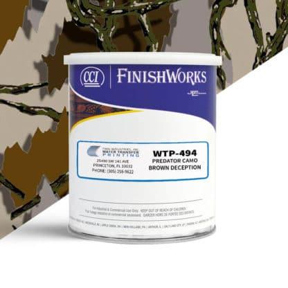 Hydrographic Paint: WTP-494 Predator Camo Brown Deception | CCI Paint