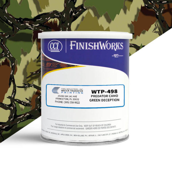 Hydrographic Paint: WTP-498 Predator Camo Green Deception | CCI Paint