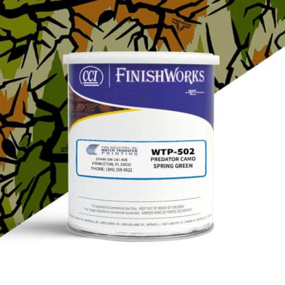Hydrographic Paint: WTP-502 Predator Camo Spring Green | CCI Paint