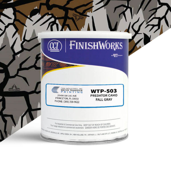 Hydrographic Paint: WTP-503 Predator Camo Fall Gray | CCI Paint
