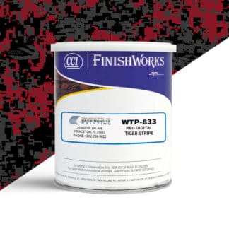 Hydrographic Paint: WTP-833 Red Digital-Tiger Stripe | CCI Paint