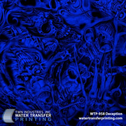 WTP-958 Deception Hydrographic Film by ShawNaughty Designz - Blue