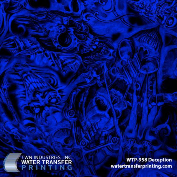 WTP-958 Deception Hydrographic Film by ShawNaughty Designz - Blue