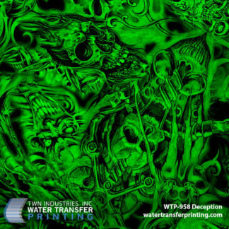 WTP-958 Deception Hydrographic Film by ShawNaughty Designz - Green