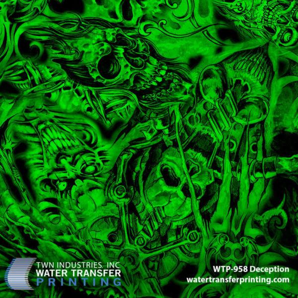 WTP-958 Deception Hydrographic Film by ShawNaughty Designz - Green