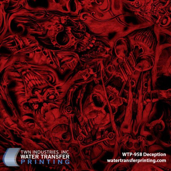 WTP-958 Deception Hydrographic Film by ShawNaughty Designz - Red