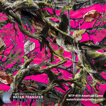 WTP-959 American Camo Hydrographic Film by ShawNaughty Designz - Pink