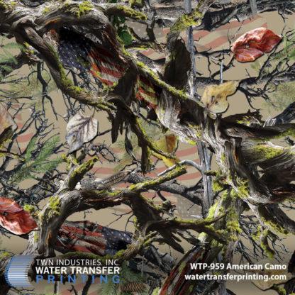 WTP-959 American Camo Hydrographic Film by ShawNaughty Designz - Tan